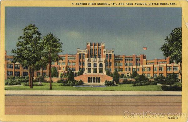 Senior High School, 14th And Park Avenue Little Rock Arkansas