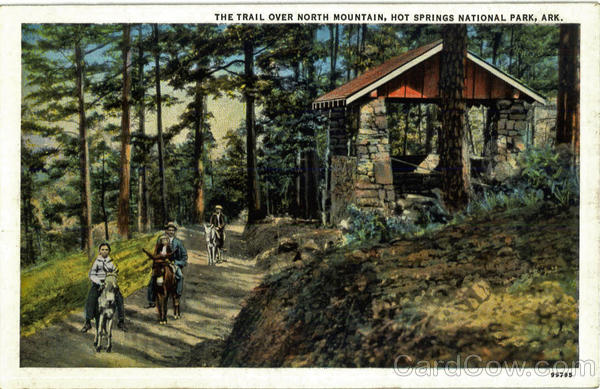 The Trail Over North Mountain, Hot Springs National Park Arkansas