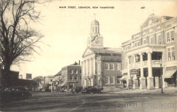 Main Street From Park Place Lebanon New Hampshire