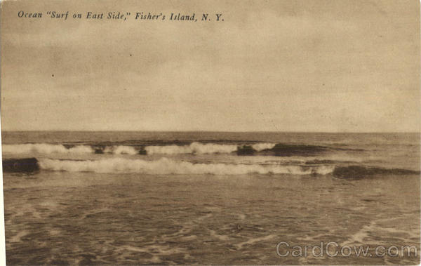 Ocean Surf On East Side Fishers Island New York