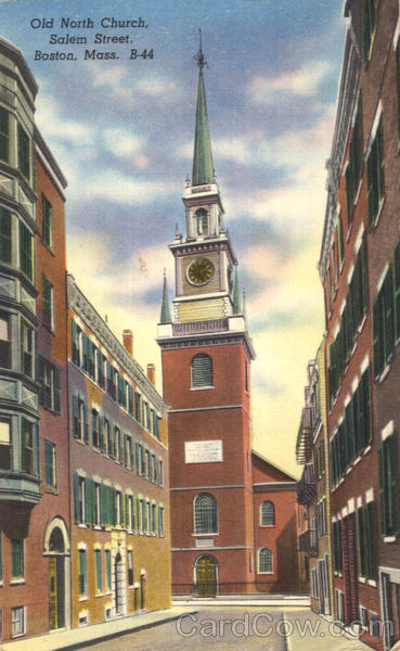 Old North Church, Salem Street Boston Massachusetts