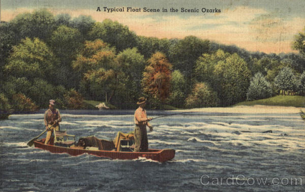 A Typical Float Scene In The Scenic Ozarks Canoes & Rowboats
