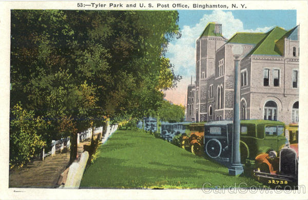 Tyler Park And U. S. Post Office Binghamton New York