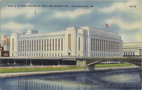 New U. S. Post Office, 30th and Market Sts Phildelphia Pennsylvania