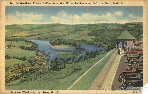 Overlooking French Azilum, Route 6 Scenic Pennsylvania