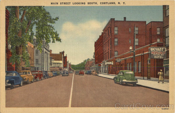 Main Street Looking South Cortland New York