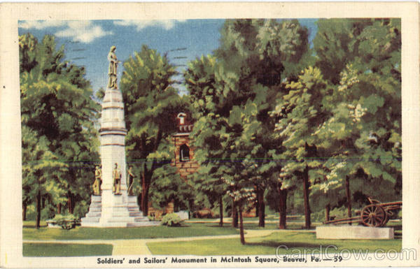 Soldiers And Sailors Monument In McIntosh Square Beaver Pennsylvania