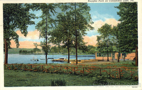 Ruggles Park On Canadohta Lake Scenic Pennsylvania