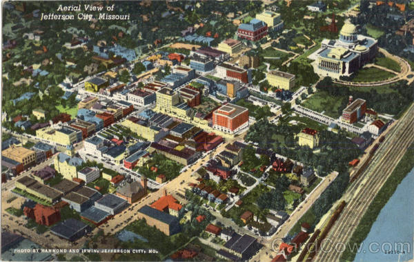 Aerial View Of Jefferson City Missouri