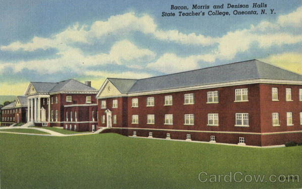 Bacan Morris And Denison Halls, State Teacher's College Oneonta New York