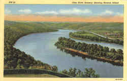 Ohio River Scenery Showing Browns Island