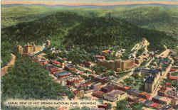 Aerial View Of Hot Springs National Park, Hot Springs National Park