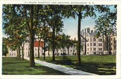 State Hospital And Grounds Postcard