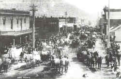Ore Wagons On Miner Street