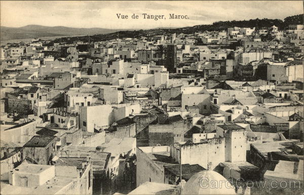 View of City Tangiers Morocco Africa