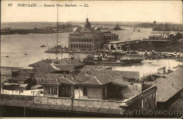 General View of the Harbour Port-Said Egypt Africa