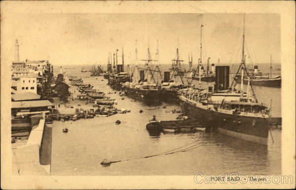The Port Port Said Egypt Africa