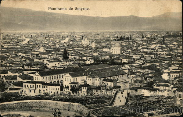 Panorama of Smyrne, Anatolia  Turkey Greece, Turkey, Balkan States