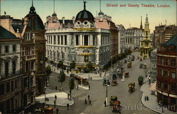 Strand and Gaiety Theater London England