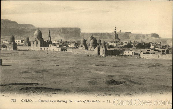 View showing the Tombs of the Kalifs Cairo Egypt Africa