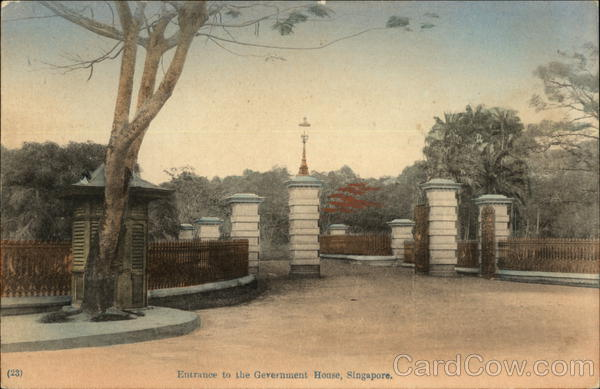 Entrance to Government House Singapore Southeast Asia