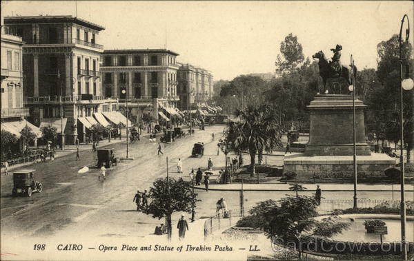 Opera Place and Statue of Ibrahim Pacha Cairo Egypt