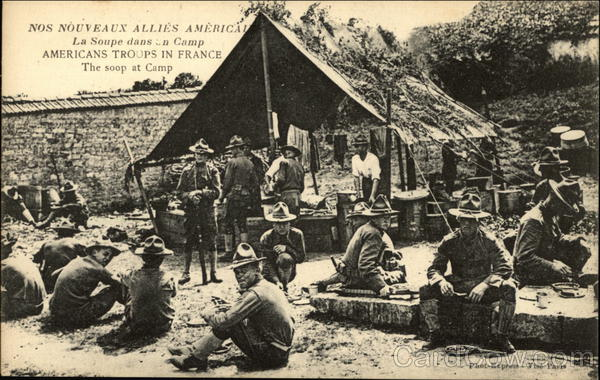 American Troops at Camp France
