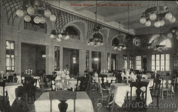 Dining Room, Manila Hotel Philippines Southeast Asia