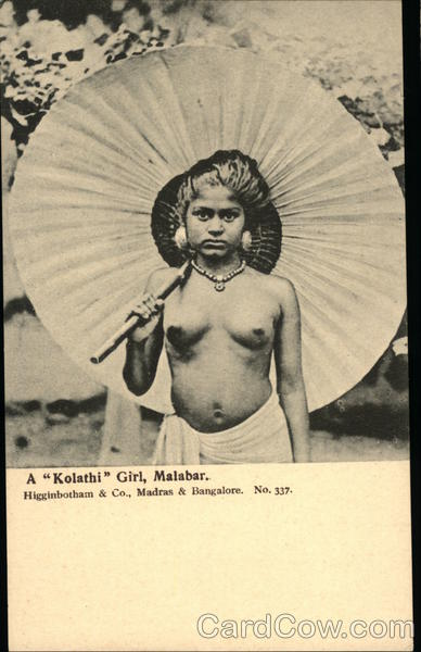 A Kolathi Girl, Malabar India Risque & Nude