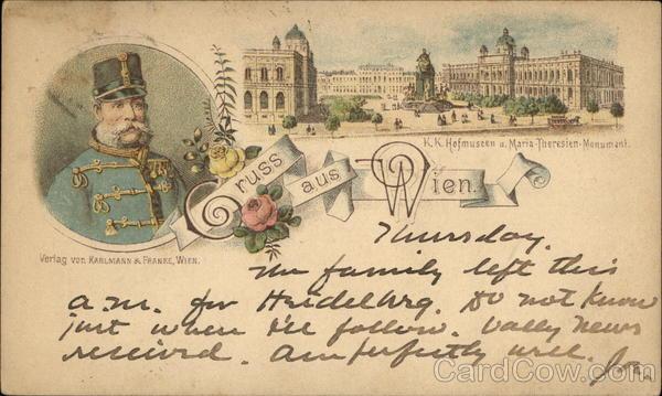 Gruss Aus Wien Vienna, Austria Postca -> Vintage Möbel Vienna