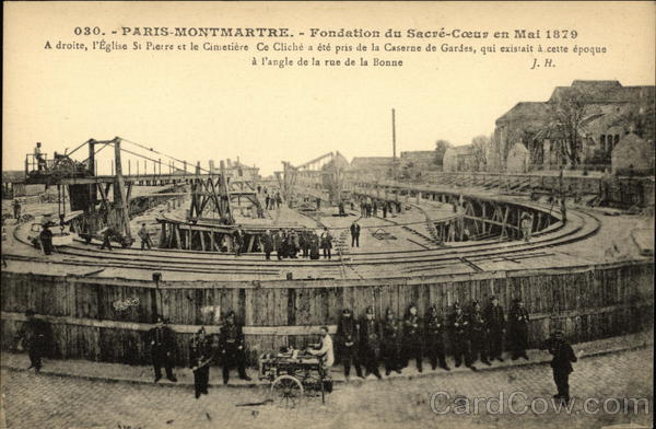 Foundation du Sacré-Coeur en Mai 1879 Paris France
