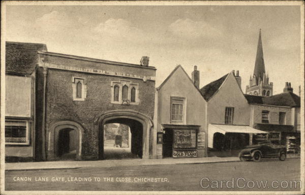 Canon Lane Gate, Leading to the Close Chichester England