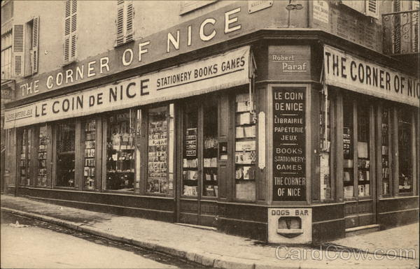 The Corner of Nice - Robert Paraf Bookstore France