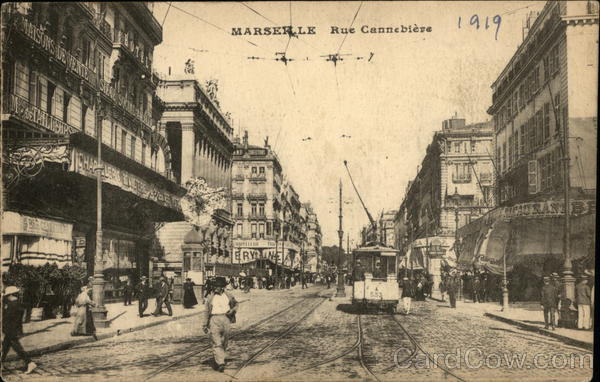 Rue Cannebiere Marseilles France