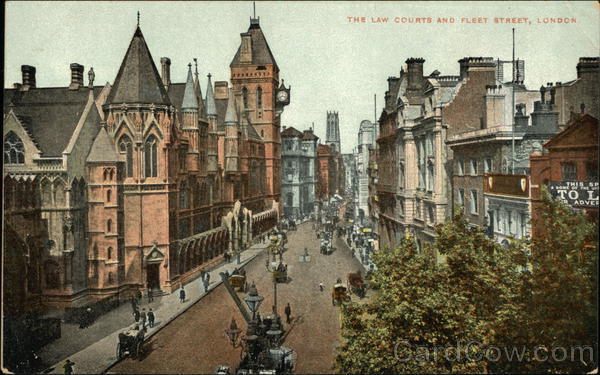 The Law Courts and Fleet Street London England