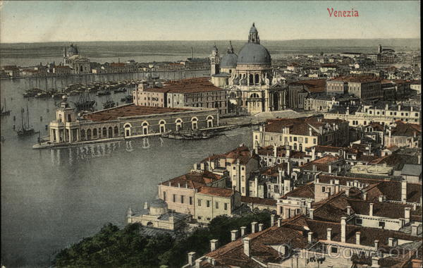 Birds-eye View of San Marco and the Grand Canal Venice Italy