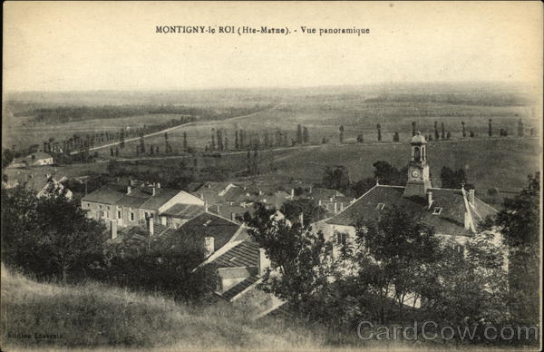 Panoramic View of Town Montigny-le-Roi France