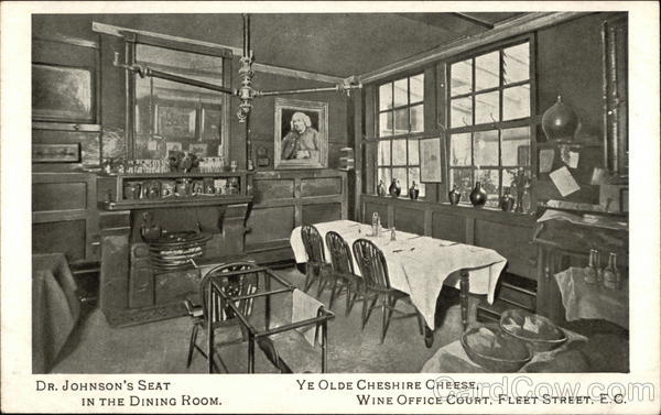 Ye Olde Cheshire Cheese and Wine Court, Fleet Street London England