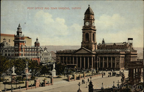 Post Office and Tower Gardens Durban South Africa