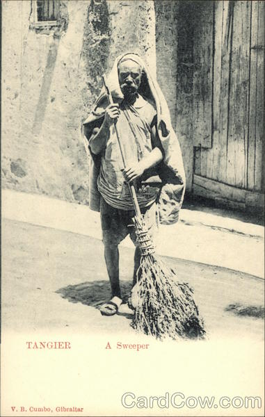 A Sweeper Tangier Morocco Africa