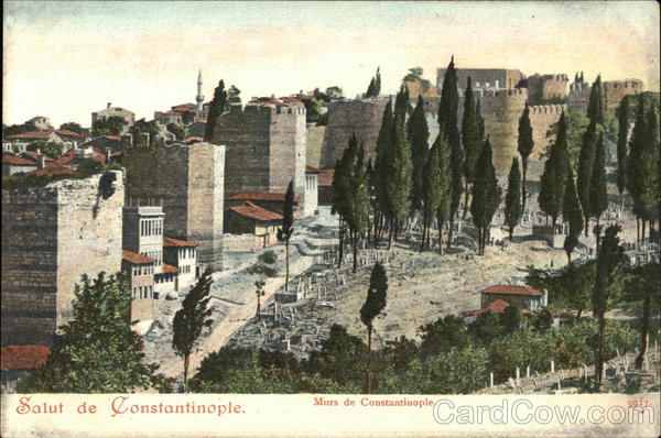Walls of Constantinople Istanbul Turkey Greece, Turkey, Balkan States