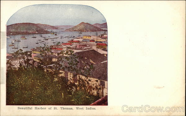 View of Beautiful Harbor St. Thomas British West Indies