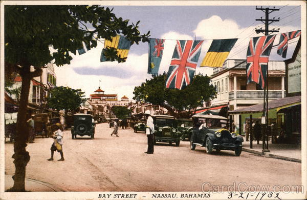 Bay Street Nassau Bahamas Caribbean Islands
