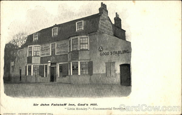 Sir John Falstaff Inn Gad's Hill England