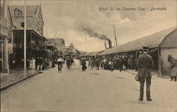 Front St. on Steamer Day Postcard