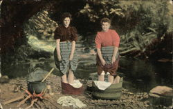 "A ""Scotch"" Washing - Two Women Sappling"