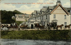 Coaches Leaving Ballie Nicol Jarvie-Hotel, for Trossachs