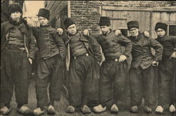VColendam - A Line of Duytch Men In Wooden Shoes