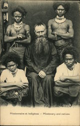 Missionary with Natives