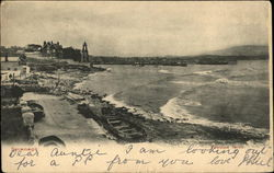 Coastline View Of Swanage Postcard